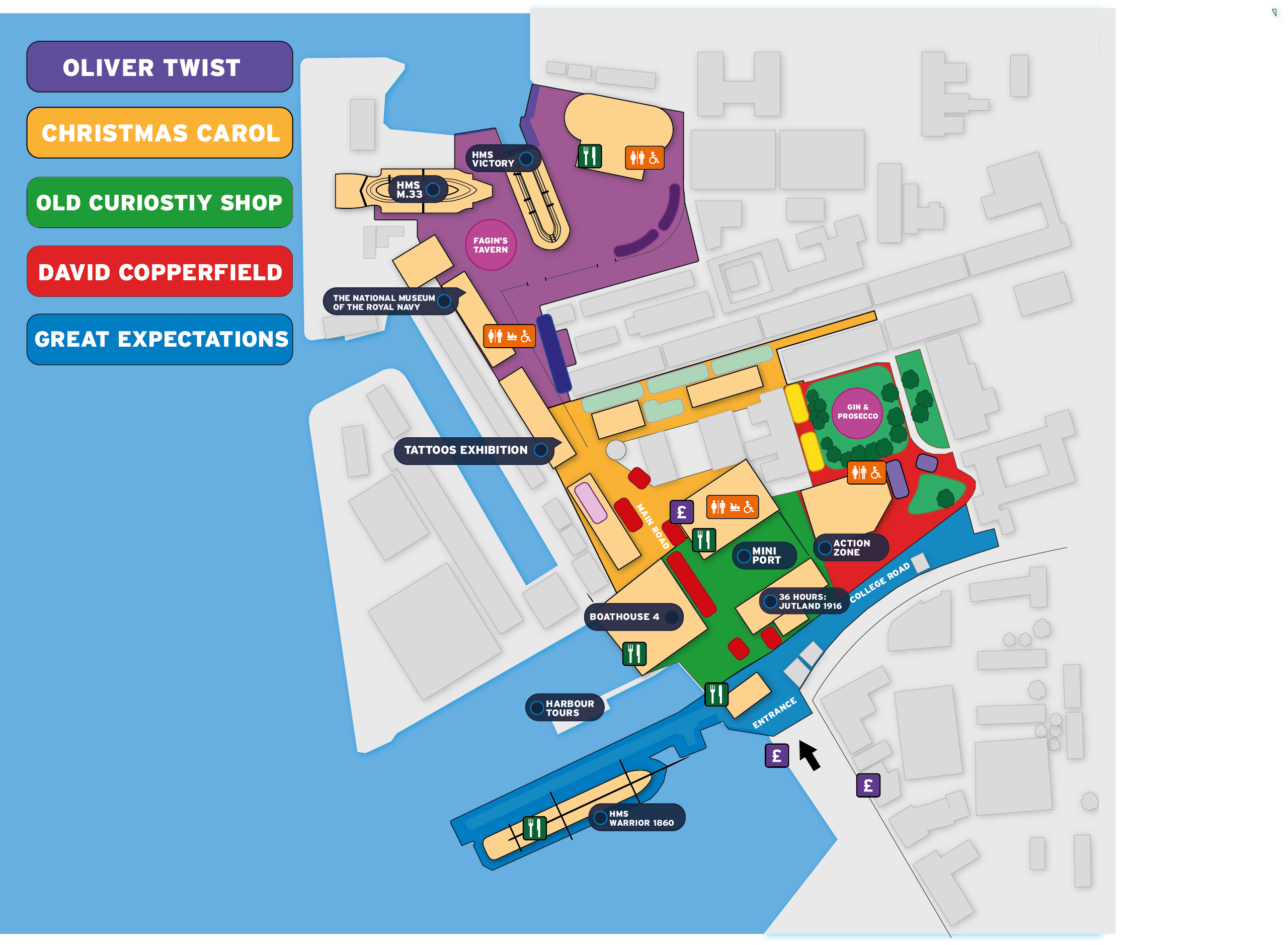The map for Dickens Christmas Festival 2018